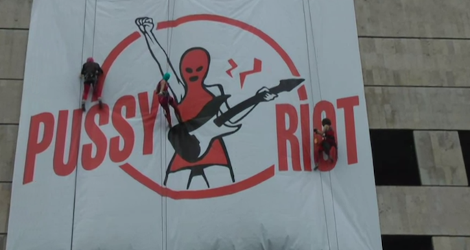 Pussy Riot thank celebrity supporters, set fire to Putin poster in new video