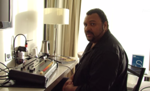 Egyptian Lover shows FACT TV how to build a beat on the Roland 808