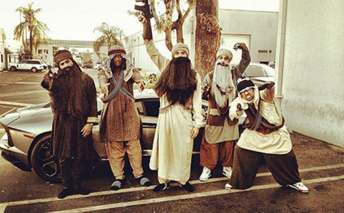 Chris Brown misadventure #354: dressing up as the Taliban for Halloween