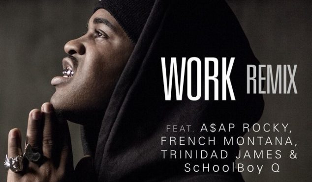 A$AP Rocky, ScHoolboy Q, French Montana and Trinidad Jame$ jump on A$AP Ferg's 'Work'
