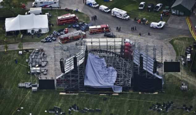 Live Nation charged in connection with last year's Radiohead stage collapse