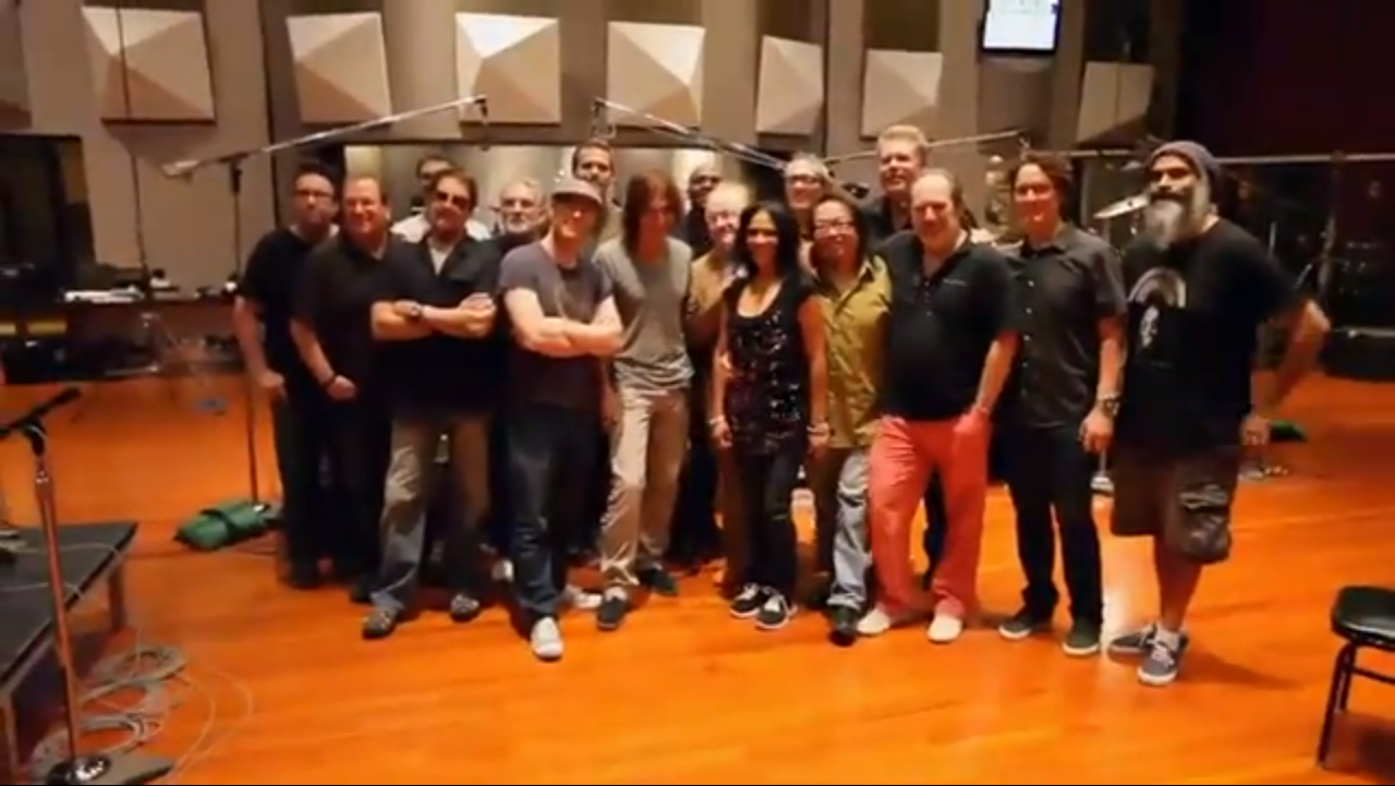 Watch a dozen of the world's greatest drummers play together for the <em>Man of Steel</em> soundtrack