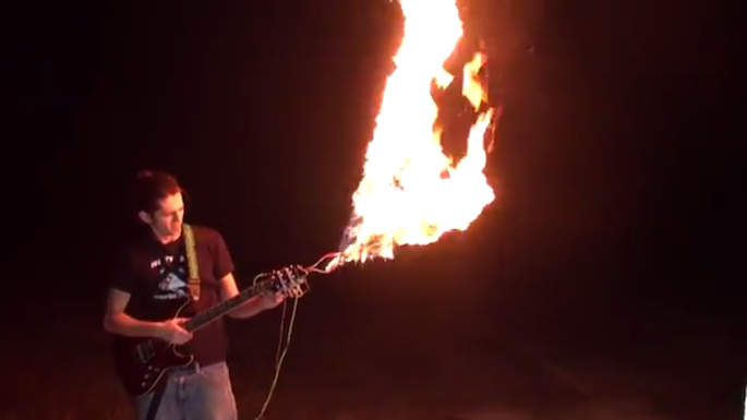 Come On Baby Light My Fire Hacker Builds Flamethrowing