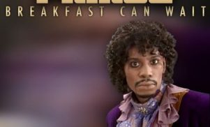 Dave Chappelle features on the magnificent cover art for Prince's 'Breakfast Can Wait'