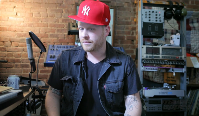 Watch El-P make a beat from records he chose while blindfolded