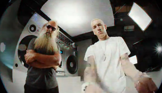 Eminem drops bizarre video for 'Berzerk' with cameos from Rick Rubin, Kendrick Lamar and more