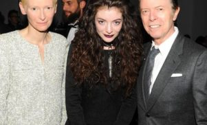 This photo of David Bowie, Tilda Swinton, and 'Royals' singer Lorde is adorable