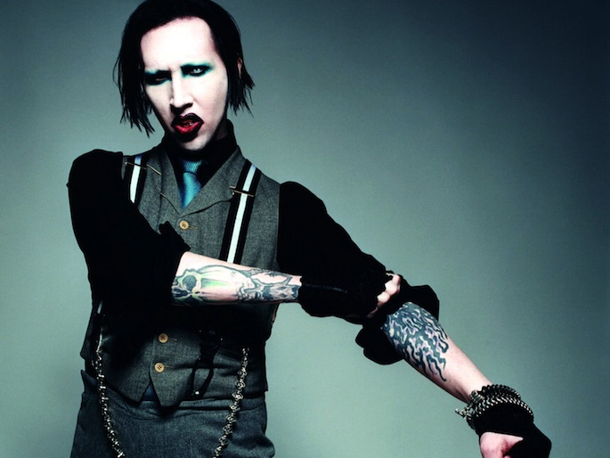 The beautiful people: check out Marilyn Manson's makeup-less <em>Eastbound & Down</em> cameo