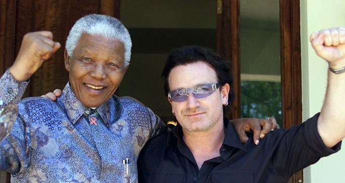 """Mandela lived a life without sanctimony"": Bono's tribute ..."