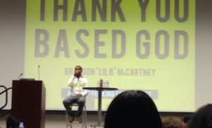 Watch Lil B deliver his 'Thank You Based God' lecture at University of California, Riverside