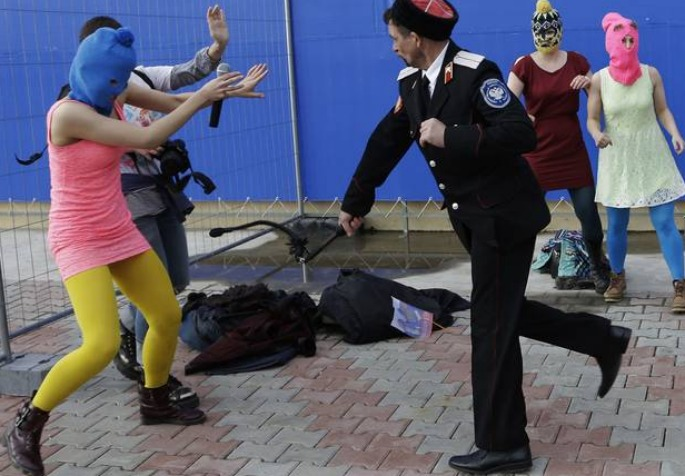 Pussy Riot members attacked with whips in Sochi