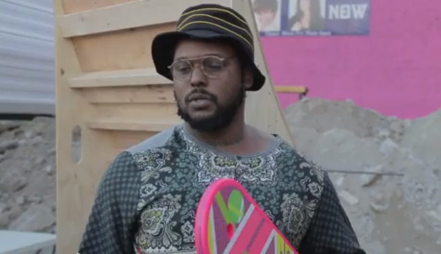 Watch Moby and Schoolboy Q try out a Back To The Future Part II-style hoverboard