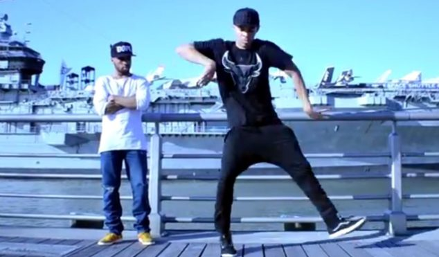 Learn the basic steps of Chicago footwork from two dance pros