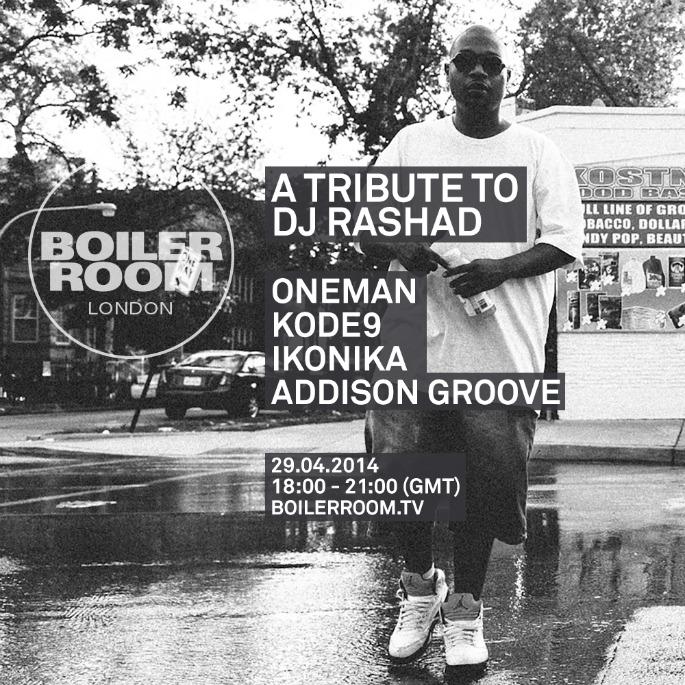 Boiler Room to host DJ Rashad tribute with Kode9, Ikonika and more