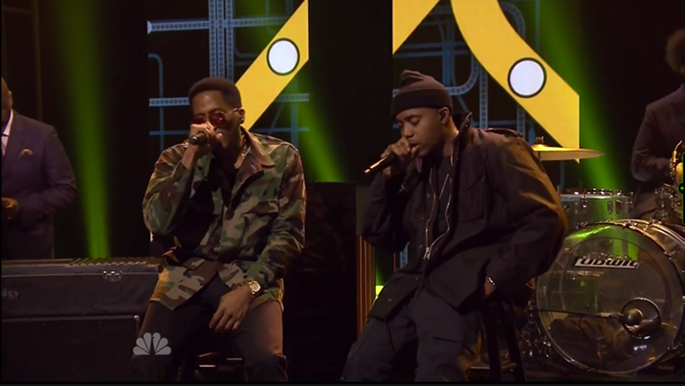 Watch Nas perform Illmatic classics with The Roots and Q-Tip on
