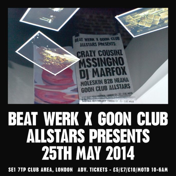 Goon Club Allstars plan bank holiday party — win tickets and a test pressing of Mssingno's EP