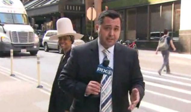 Watch Erykah Badu gatecrash a live news broadcast, be a brilliant nuisance