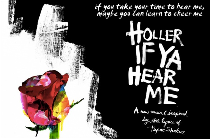 Hear three tracks from the Tupac musical Holler If Ya Hear Me