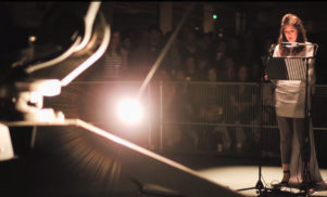 Mira Calix track performed live with Conrad Shawcross' robot for The Ada Project