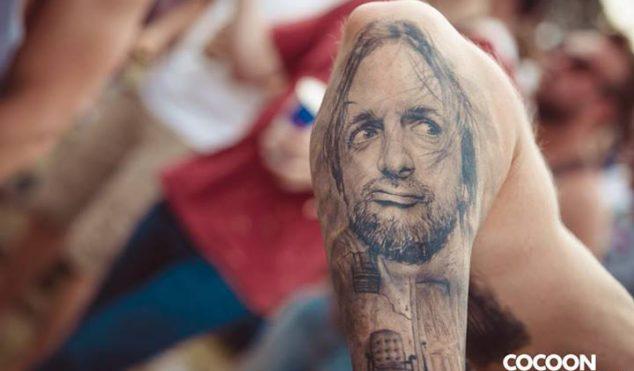 Move over, Drake girl – this guy got Ricardo Villalobos' face tattooed on his elbow