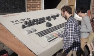 Some Scottish geniuses have built a nine-feet-long Roland TR-909