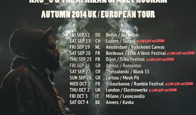 Ras G, Low Leaf and Zeroh embark on European tour this September and October