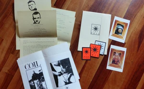Check out Scanner's wonderful archive of Coil and Aphex Twin promo material from the '80s and '90s