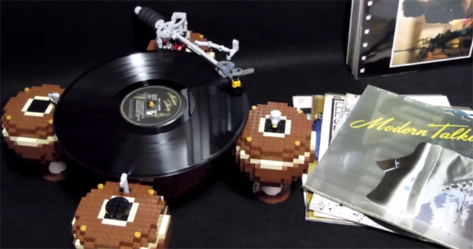 Some genius has built a working turntable out of Lego