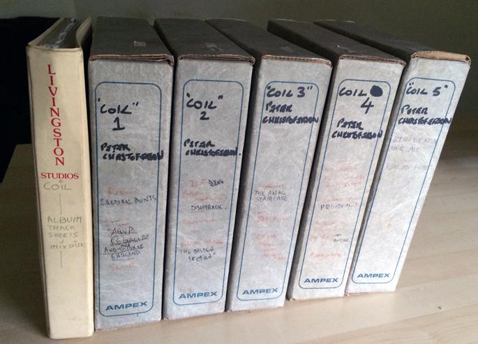 Coil's original Horse Rotorvator multitrack tapes for sale on eBay