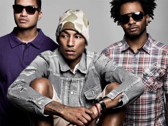 N.E.R.D. reunite during Pharell's performance at Odd Future's festival