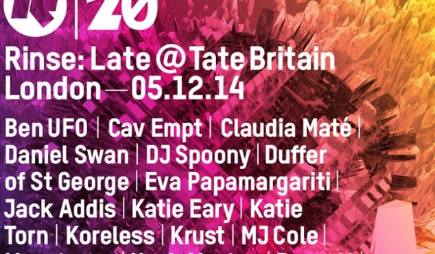 Rinse announce Late @ Tate Britain event with production masterclasses from Krust, MJ Cole and Mumdance