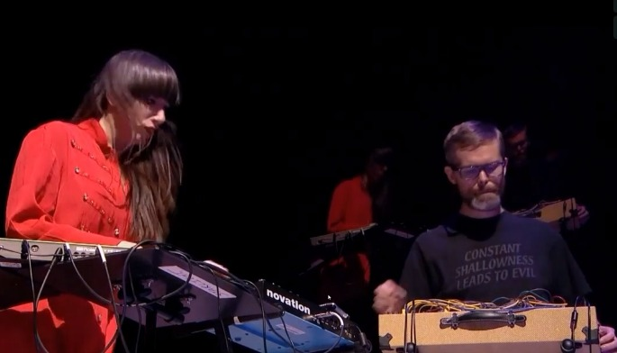 Watch Surgeon and Lady Starlight open for Lady Gaga with a punishing techno set