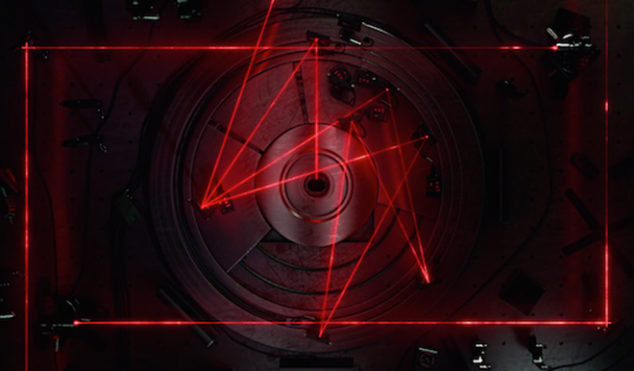 Watch a laser light show inside a CD player in the video for Rob Clouth's 'Islands of Glass'