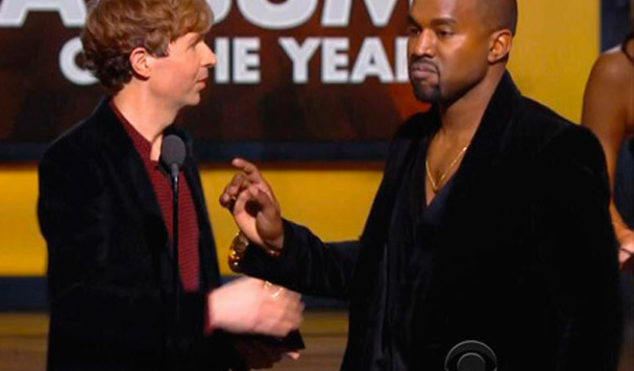Kanye West nearly interrupted Beck's Album Of The Year Grammy acceptance speech