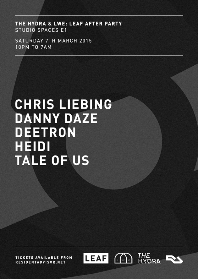 The Hydra and LWE announce LEAF afterparty with Tale Of Us, Deetron, Danny Daze and more