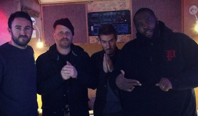 Run The Jewels back in the studio, with Massive Attack