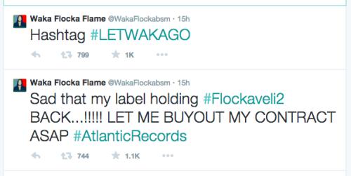 Waka Flocka Flame tweets