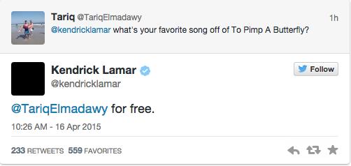 Kendrick Lamar says Earl Sweatshirt is his favourite artist