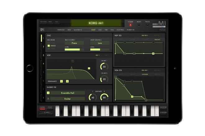 Korg recreates classic M1 digital synthesizer workstation for iPad