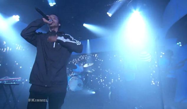 Earl Sweatshirt brings out Badbadnotgood and Gary Wilson on Jimmy Kimmel live