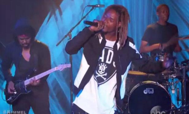 Watch Fetty Wap perform 'Trap Queen' on Jimmy Kimmel Live