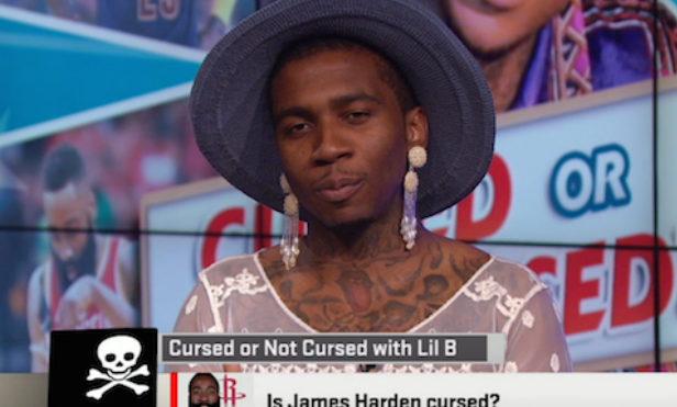 Lil B talks curses on ESPN dressed as a grandma
