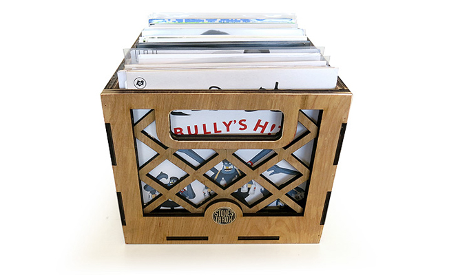 """Store your 7""""s in a customised Stones Throw crate"""