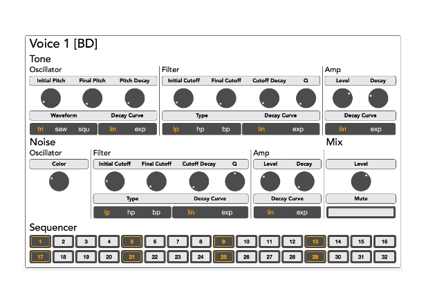 this roland inspired drum machine works in your browser. Black Bedroom Furniture Sets. Home Design Ideas