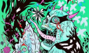Grimes has designed an amazing comic book cover