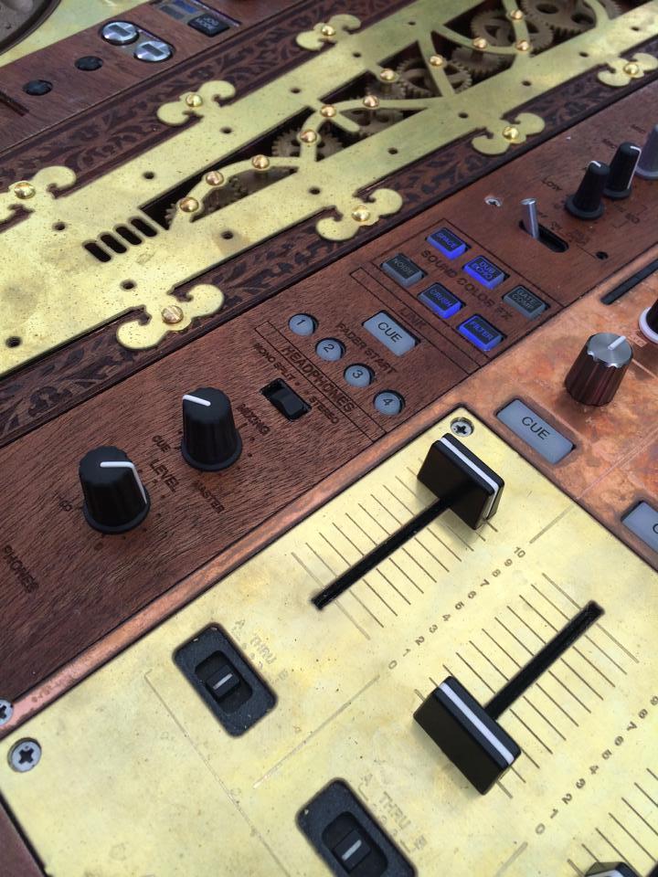 Tomorrowland commissioned a set of steampunk CDJs