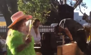 Watch DJ Harvey dispose of a head-first stage diver