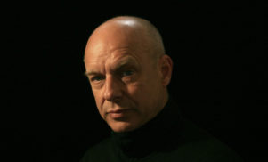 Brian Eno speaks at Labour Party candidate Jeremy Corbyn rally