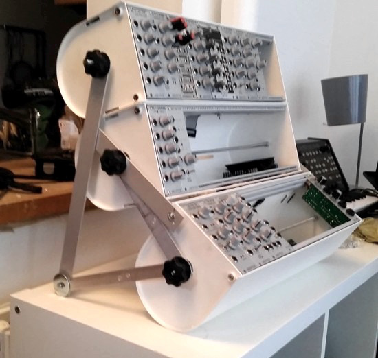 Make a modular synth case from a toilet roll holder with this IKEA hack
