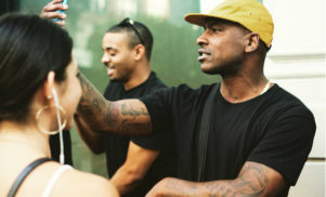 Watch Skepta give out his new mixtape in SoHo, New York City
